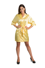 Zynotti yellow satin robe