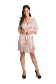 Zynotti kimono pink satin robe