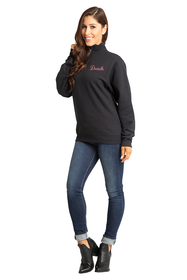 Women's Personalized Embroidered Quarter Zip Sweater