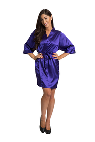 Zynotti Regal Purple Satin Robe