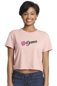 Zynotti dama de la quinceanera pink  crop tee