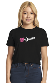 Zynotti dama black cropped t-shirt for quinceanera