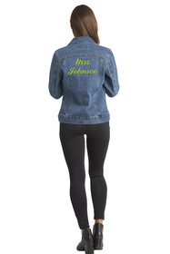 Zynotti Custom Embroidered Jean Jacket Mrs.