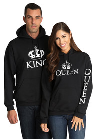 King and Queen Matching Sweatshirt Set