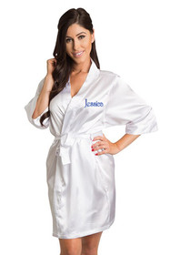 Personalized Embroidered White Robe