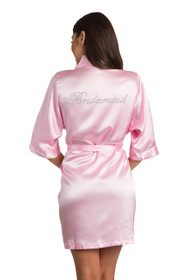 Rhinestone Bridesmaid Pink Robe