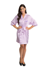 Personalized Embroidered Lavender Robe