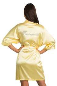 Rhinestone Yellow Bridesmaid robe