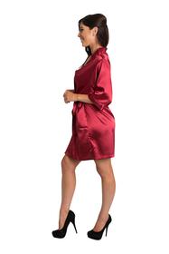 Personalized Embroidered Print Crimson Robe