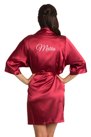 custom embroidered red robe