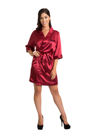 Personalized Embroidered Crimson Robe