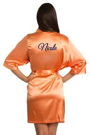 custom orange robe embroidered