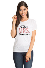 "White Front Crop Future ""Mrs."" Tee"