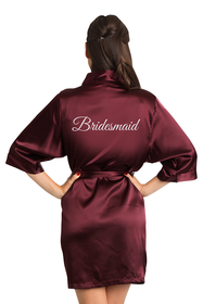 Glitter Burgundy Bridesmaid Robe