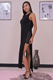 Zynotti long black dress