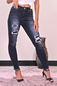 YMI rip and repair skinny jeans