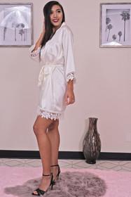 Zynotti ivory lace robe