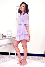 lavender mini dress