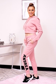 personalized pink jogger pant