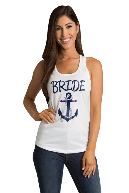 Zynotti's Nautical Anchor Bride Tank Top