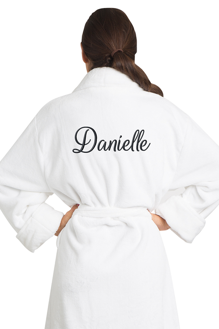 Zynotti's Women's Personalized Embroidered Tahoe Microfleece Robe - Rogue Style