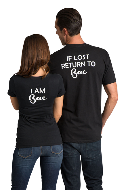 Zynotti I am Bae Return to Bae Matching Couple Honeymoon Black Tee Shirt Top
