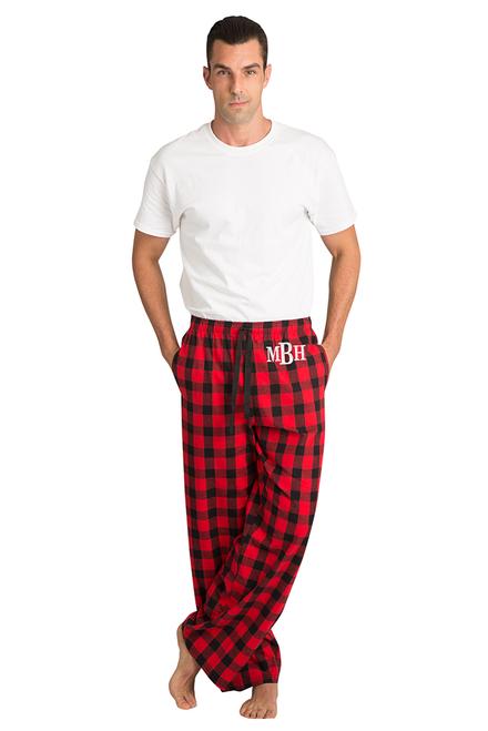 Personalized Monogram Anchor Mens Pajama Pants
