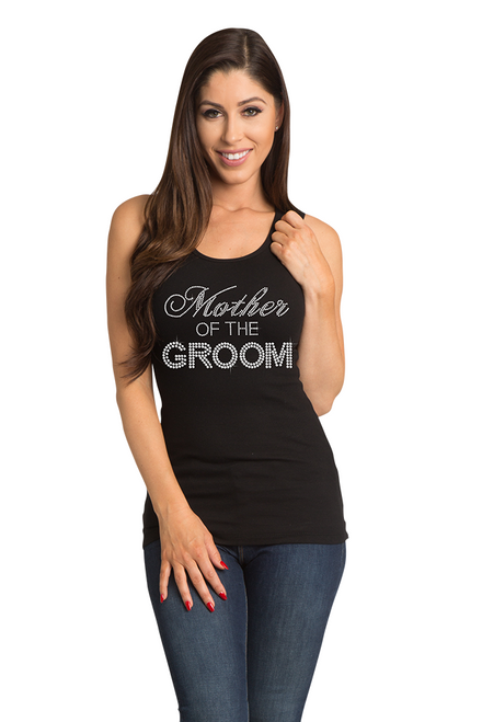 Zynotti's Big Bling Mother of the Groom Ribbed Tank