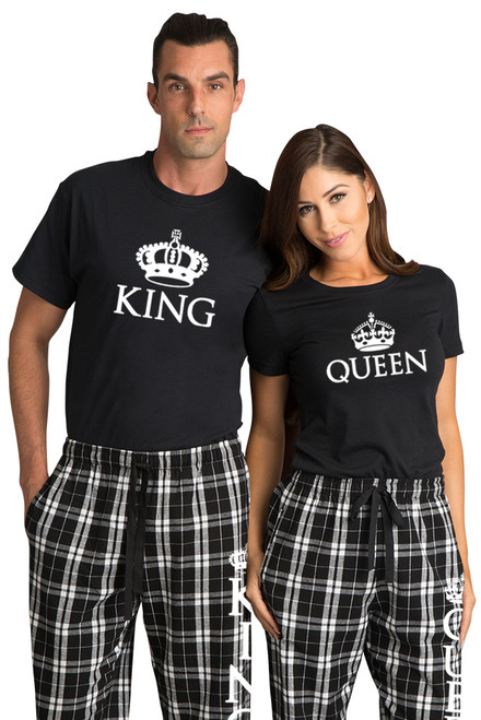 King & Queen Matching Couples Pajama Set