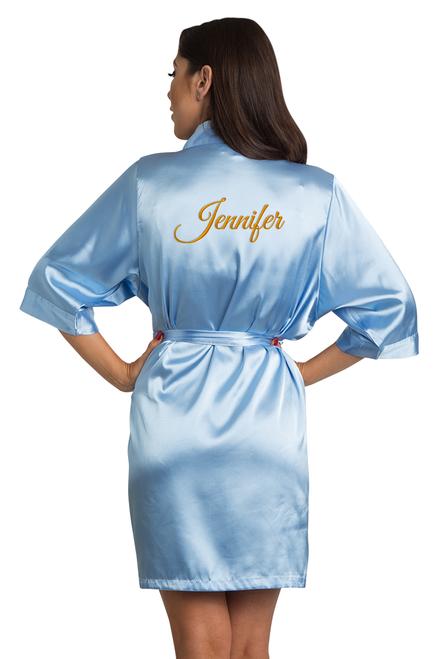 custom blue robe