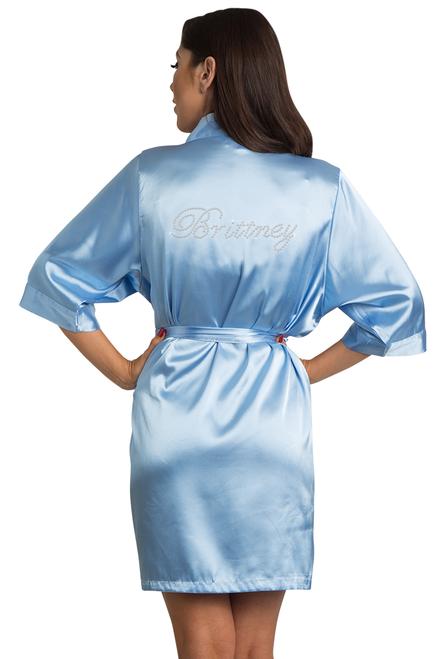 custom satin robe