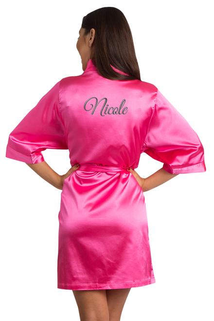 custom hot pink robe