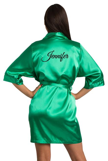 custom green robe