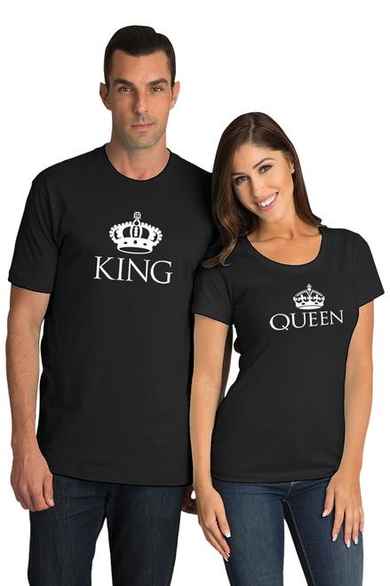 Matching Couples King & Queen T-Shirt Set