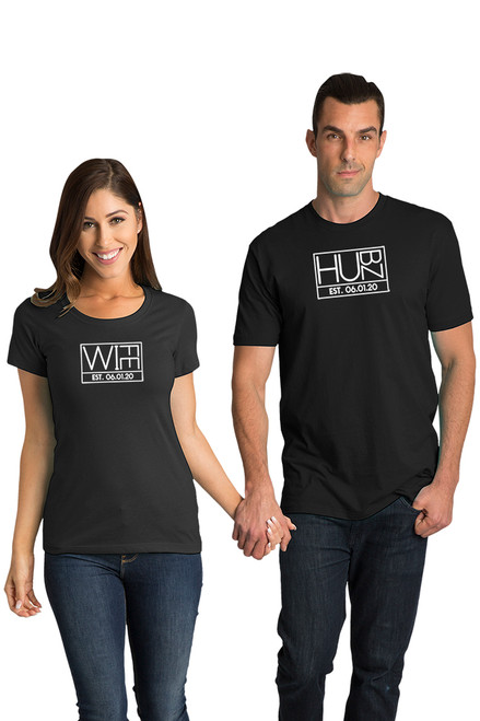 Matching Couple Hubz and Wife T-Shirt Set