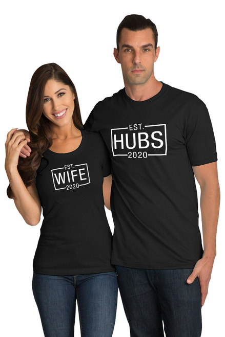 Matching Couple Hubs and Wife T-Shirt Set