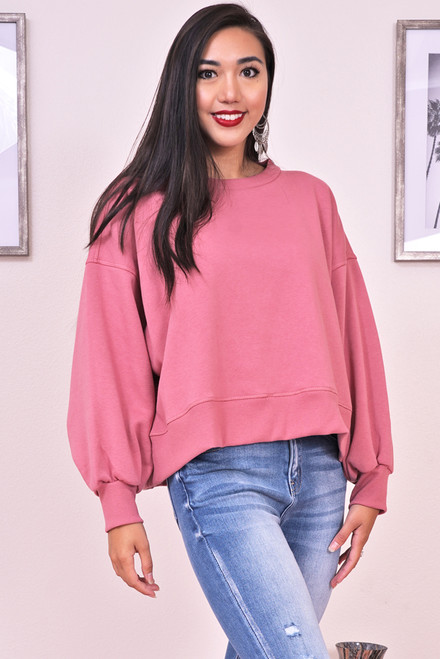 zynotti blush pink sweater
