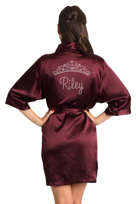 personalized satin robe