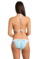 Zynotti rhinestone lace just married summer honeymoon lace blue bikini