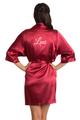 Personalized Embroidered Satin Kimono Robe