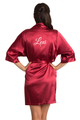 personalized embroidered red robe