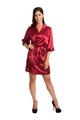 women's red satin robe