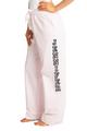 zynotti Women's Custom Print light pink Flannel plaid Pajama lounge sleepwear Pants