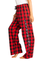 zynotti Women's Custom Print buffalo Flannel plaid Pajama lounge sleepwear Pants