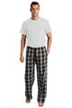 Zynotti Groom Print Black and White Plaid Flannel Pajama Lounge Wear Pants