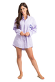 Personalized Embroidered Mrs. Oversized Oxford Shirt