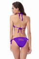 Glitter Print Mrs. Bikini With  Triangle Top and String Bottom