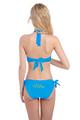 Glitter Print Mrs. Bikini With Halter Top and Sash Tie Bottom