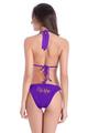 Glitter Print Wifey Bikini with String Halter Top and Sash Tie Bottom