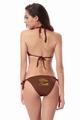 Personalized Glitter Print Mrs. Bikini Bottom - Triangle Top & String Bottom